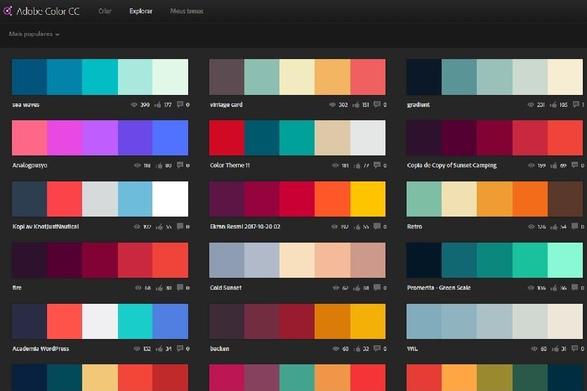Psicologia das cores adobe kuler