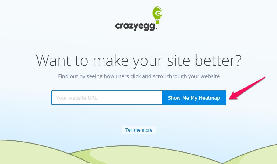 CTA do site Crazy Egg