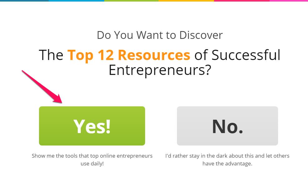 CTA do site Entrepreneuronfire.com