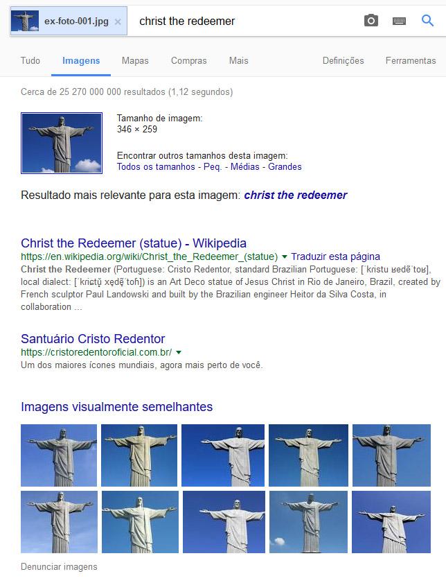 exemplo de busca por imagem