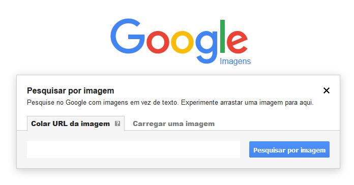 instruções para busca por imagem