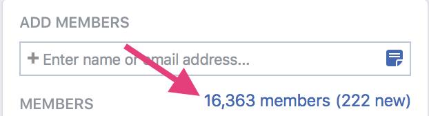 Quantidade de membros de um grupo do Facebook