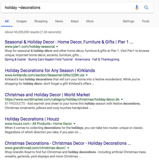 pesquisa no google encontrando sinônimos-min