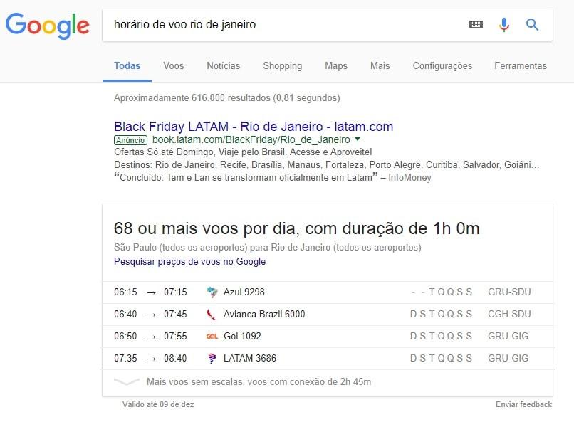 pesquisa no google horários de voos-min